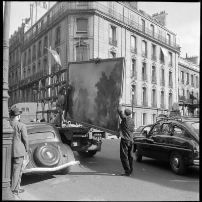 Arrivée du Fragonard à la banque de France, Fonds Galerie Charpentier