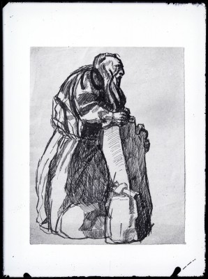 Étude pour Rodin au travail, dessin