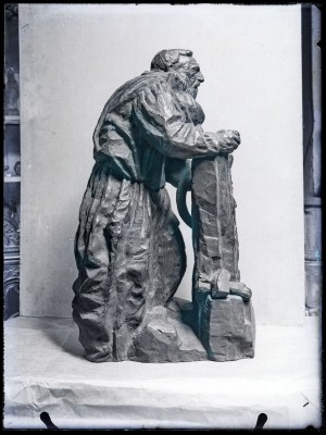Rodin au travail, bronze, 1909