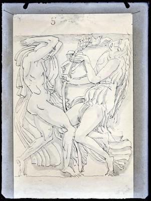 La Danse d'après Nijinsky et Isadora Duncan, étude pour le relief du théâtre des Champs-Élysées, 1912